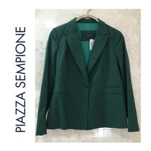 PIAZZA SEMPIONE {10} Jacket Silk Green NWT